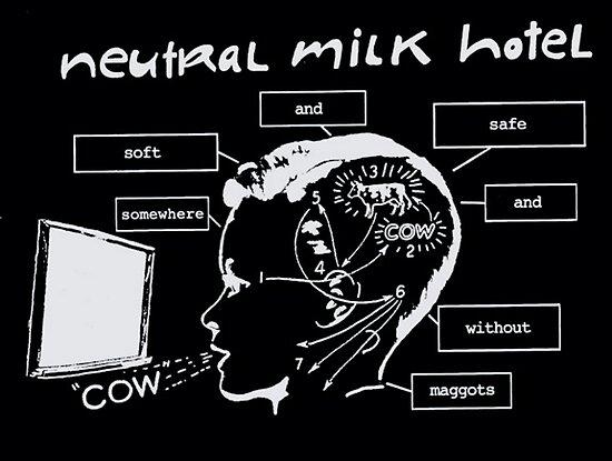 Neutrales Milchhotel Irgendwo weich und süß ohne Maden COW von kyonoko