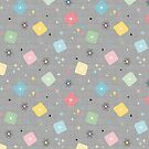 Retro Scattered Atomic Stars Explosions  by WickedRefined - Nicole Demereckis