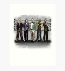 Breaking Bad/ The Usual Suspects (colour) Art Print