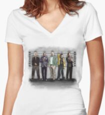 Breaking Bad/ The Usual Suspects (colour) Women's Fitted V-Neck T-Shirt
