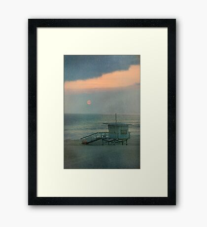 Manhattan Setting Framed Print