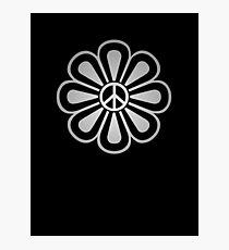 Metal Flower Peace,Love,Music Photographic Print