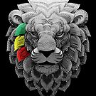 Rasta Lion Three Stripes by LionTuff79