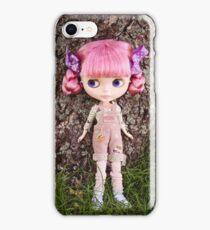 Summer Blythe in the garden - portrait version iPhone Case/Skin