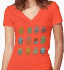 assorted birds Women's Fitted V-Neck T-Shirt