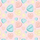 Introvert Conversation Hearts by doodlebymeg