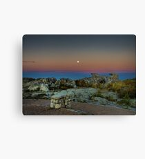 Moonrise over Table Mountain Canvas Print