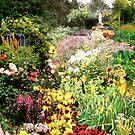 """Life's Trail"" Collage garden 10.5H x 31""L by sonia neira-matthews"