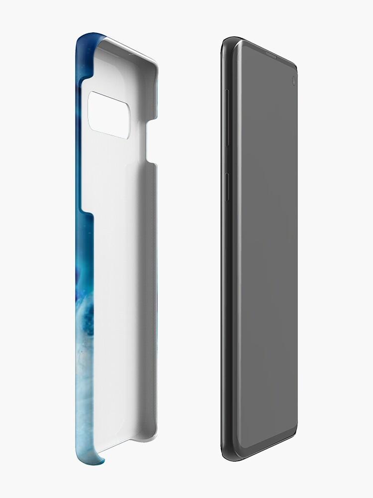 Alternative Ansicht von Kristallblauer Iphone & Galaxy Case Hülle & Klebefolie für Samsung Galaxy