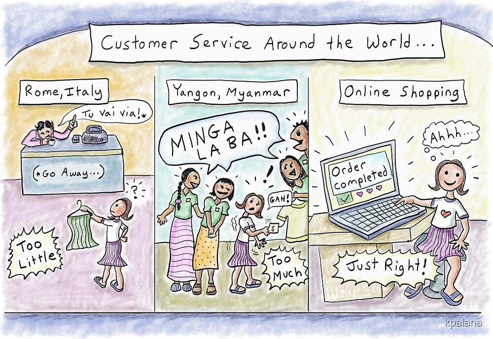 new products b4eef 91879 Customer Service vs. Online Shopping (Italy, Myanmar)