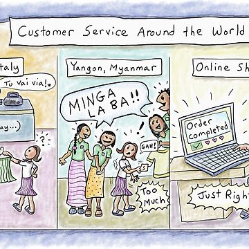Customer Service vs. Online Shopping (Italy, Myanmar) by kpalana