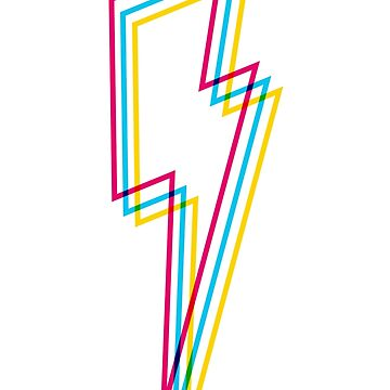 CMYK Lightning lines by animinimal
