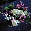 Bouquet featuring White Freesias by BlueMidnight