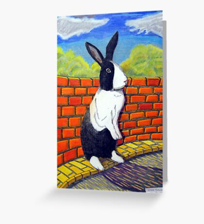 296 - TUFFY BUNNY - DAVE EDWARDS - COLOURED PENCILS & INK - 2010 Greeting Card