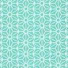 Asanoha-Muster - Minze von Cat Coquillette
