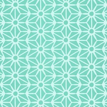 Asanoha Pattern - Mint by catcoq