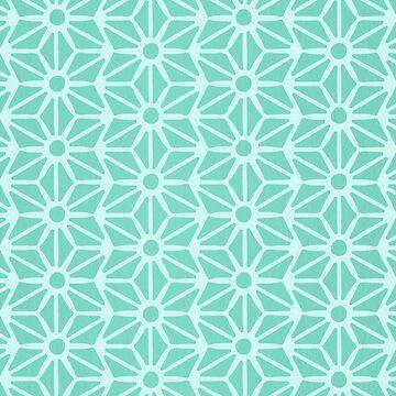 Asanoha-Muster - Minze von catcoq