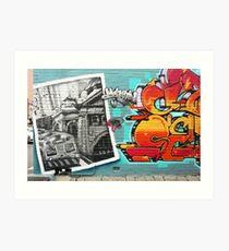 Melburn Graffiti! Art Print