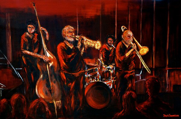 Quot Cool Jazz On A Hot Night Quot By Steph Stewardson Redbubble