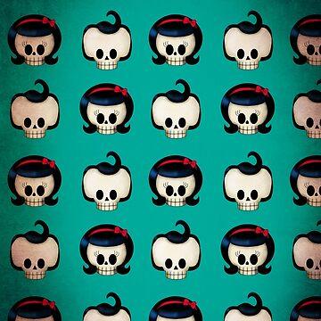 Rockabilly Skulls Pattern by colonelle