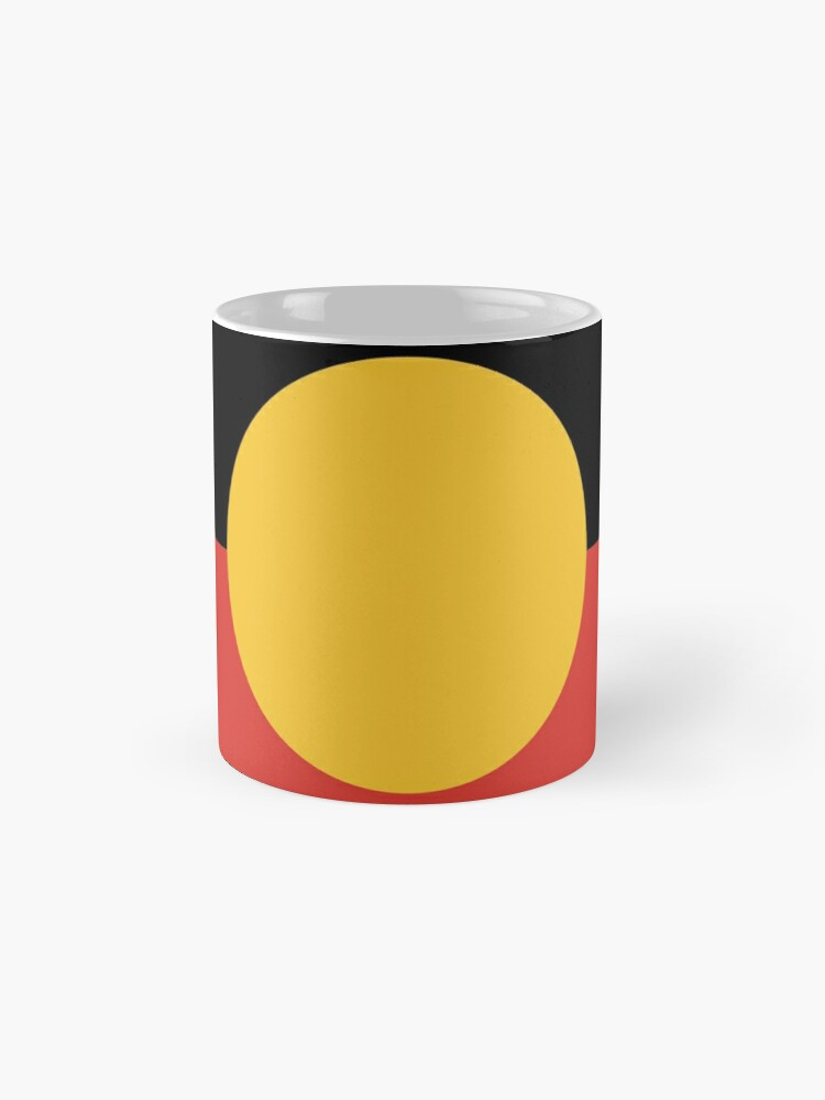 Alternate view of Australian Aboriginal Flag Mugs