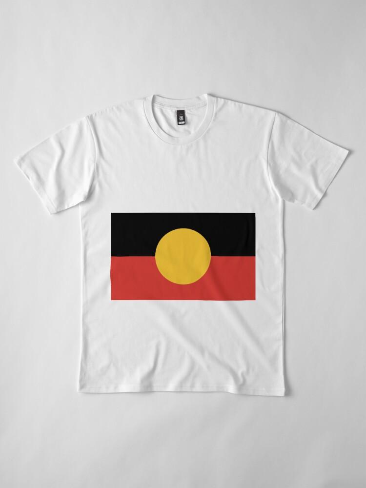 Alternate view of Australian Aboriginal Flag Premium T-Shirt