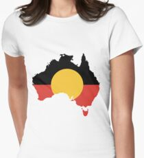 Aboriginal Flag Fitted T-Shirt