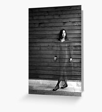 Girl on the wall Greeting Card