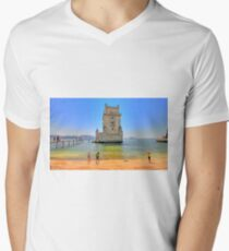 Belém colors Men's V-Neck T-Shirt