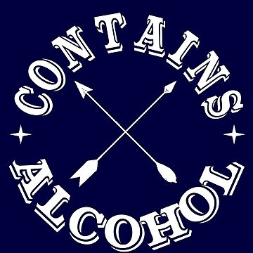 funny drinking logo contains alcohol  by headpossum