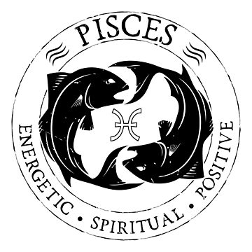 Pisces Zodiac Birthday Star Sign Zodiac Gift by oberdoofus