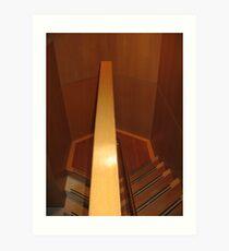 Hexagonal Stairway Art Print