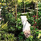 """""""Garden of Eden"""" Collage garden  10.5""""H x 32""""L by sonia neira-matthews"""