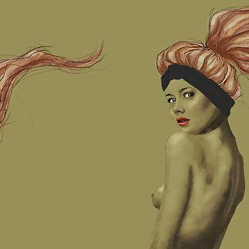 Pastel pink hair girl by Anaelisch