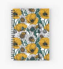 The meadow in yellow Spiral Notebook
