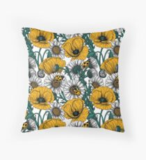 The meadow in yellow Throw Pillow
