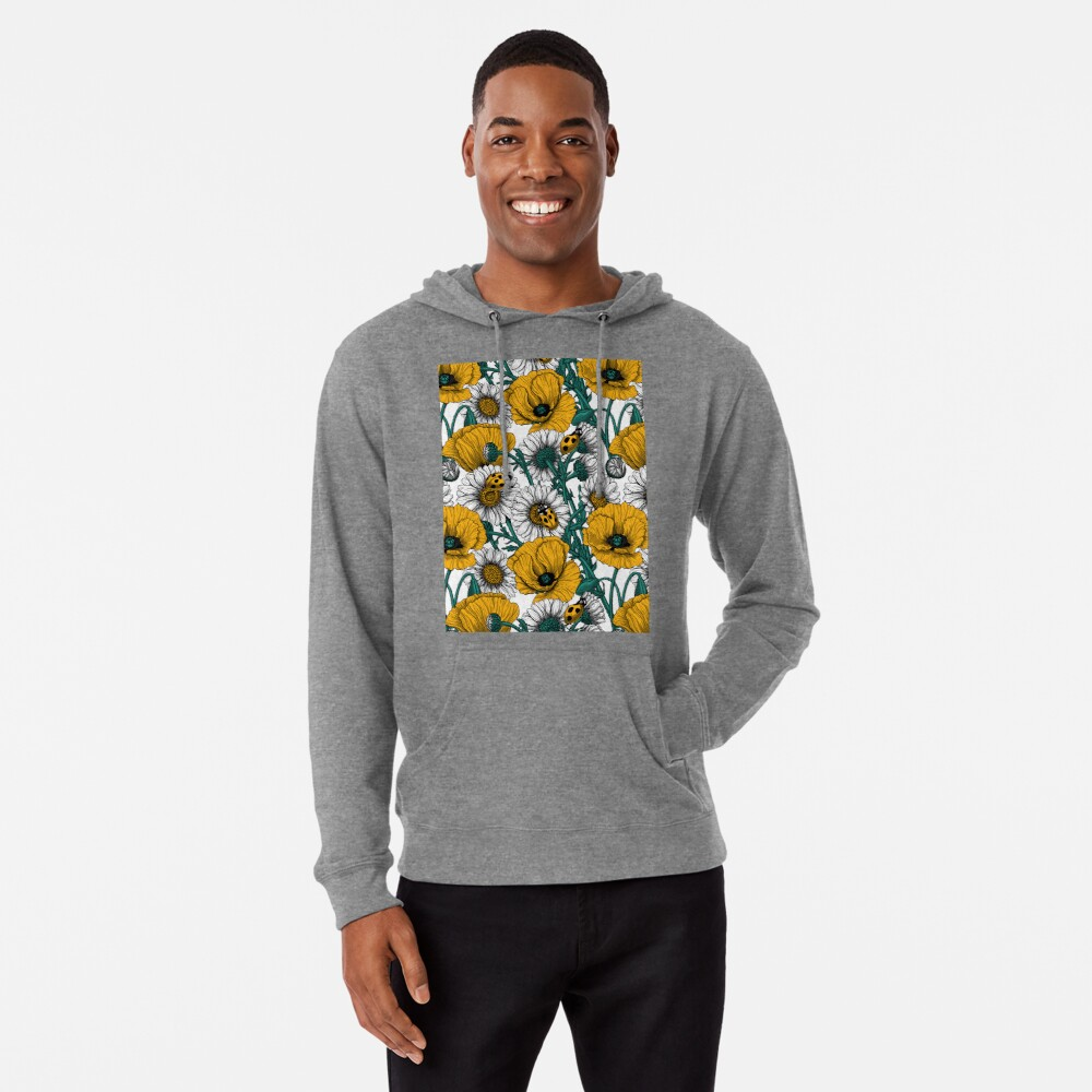 The meadow in yellow Lightweight Hoodie