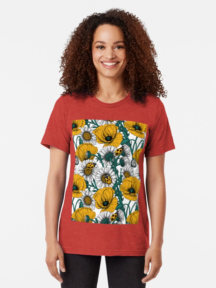 Alternate view of The meadow in yellow Tri-blend T-Shirt