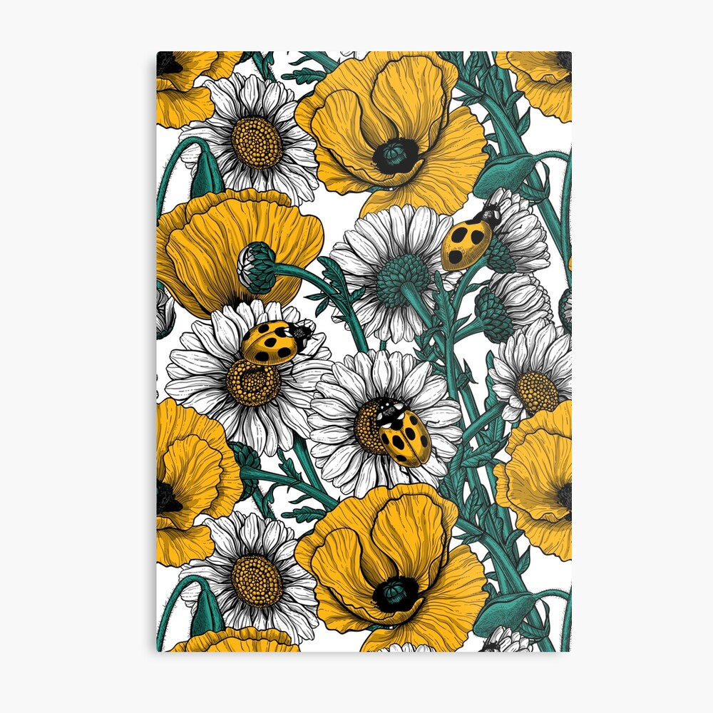 The meadow in yellow Metal Print