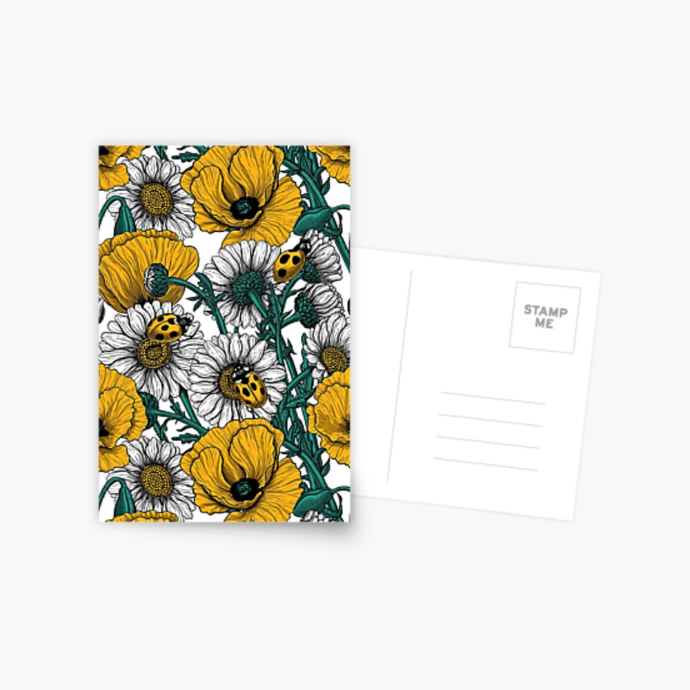 The meadow in yellow Postcard