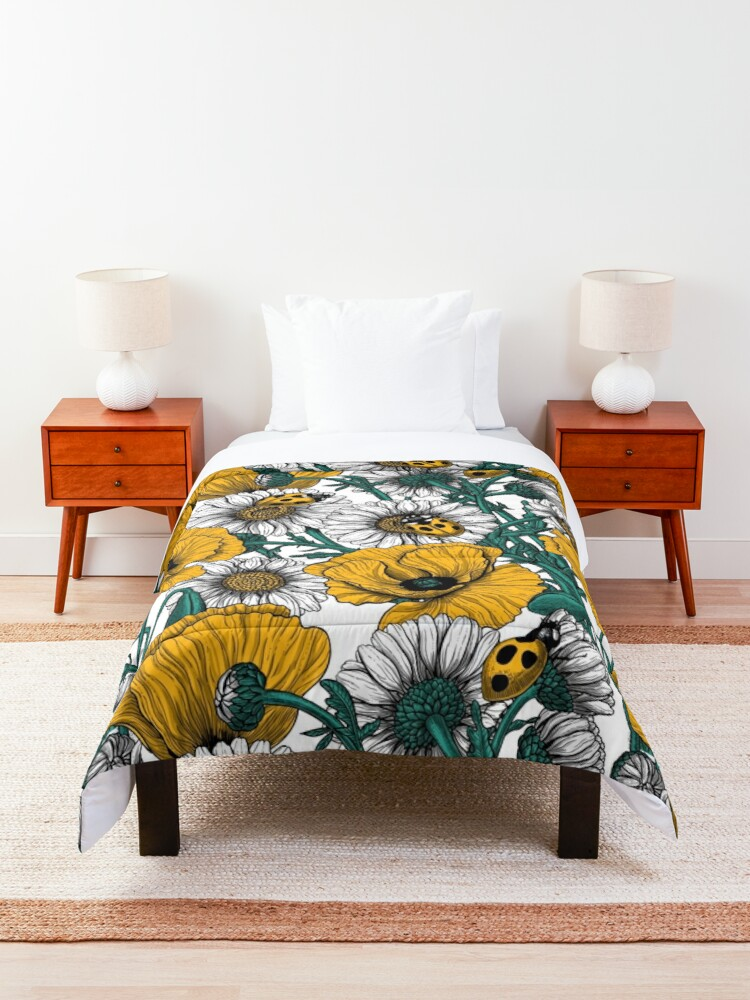 Alternate view of The meadow in yellow Comforter