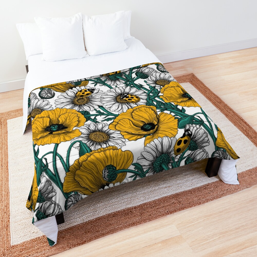 The meadow in yellow Comforter