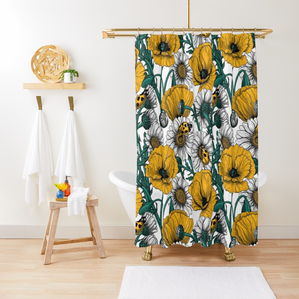 The meadow in yellow Shower Curtain