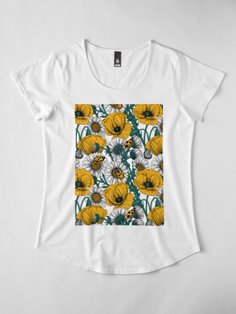 Alternate view of The meadow in yellow Premium Scoop T-Shirt