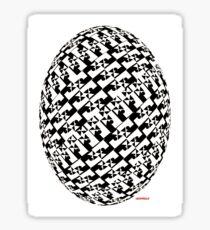 B&W Eggraphic Sticker