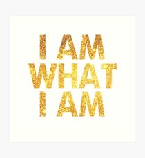 I am what I am lyric - John Barrowman (WHITE) Art Print