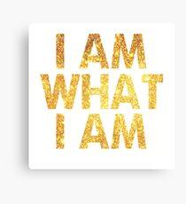I am what I am lyric - John Barrowman (WHITE) Canvas Print