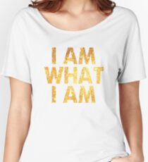 I am what I am lyric - John Barrowman (WHITE) Women's Relaxed Fit T-Shirt