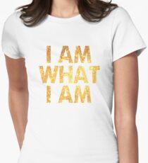 I am what I am lyric - John Barrowman (WHITE) Women's Fitted T-Shirt