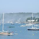 Boothbay Harbor in July by Corkle